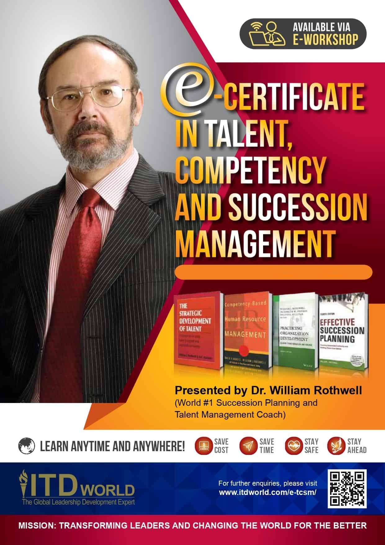 Chứng chỉ Quản lý Tài năng, Năng lực và Kế nhiệm (Certificate in Talent, Competency and Succession Management)