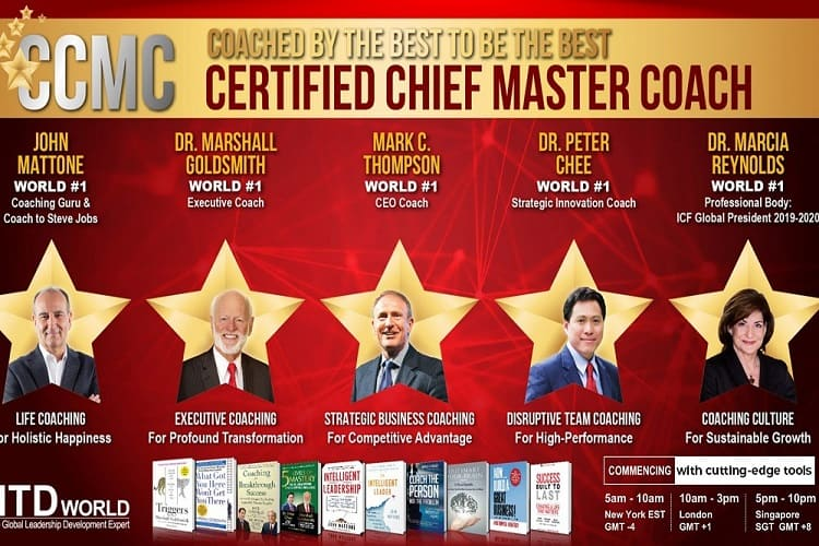 Chứng chỉ Certified Chief Master Coach - CCMC