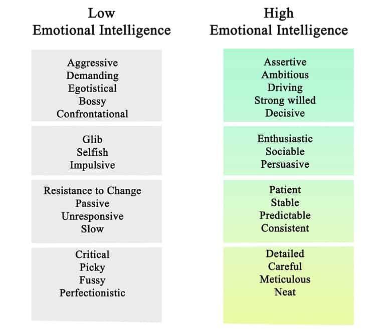 Biểu hiện trí tuệ cảm xúc