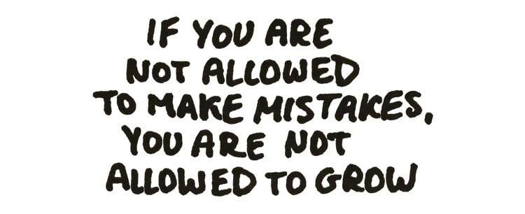 Cho phép bản thân mắc sai lầm