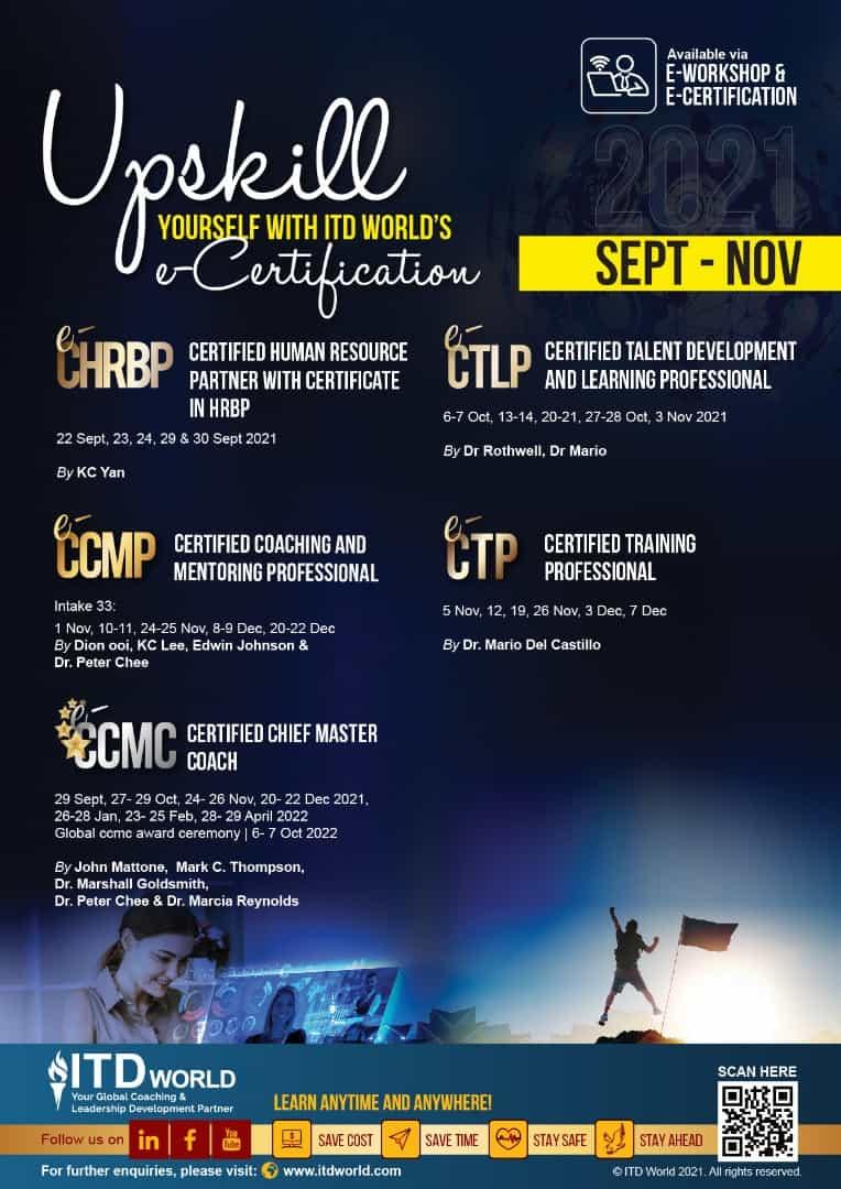 Lịch training Public ITD tháng 9,10,11-2021